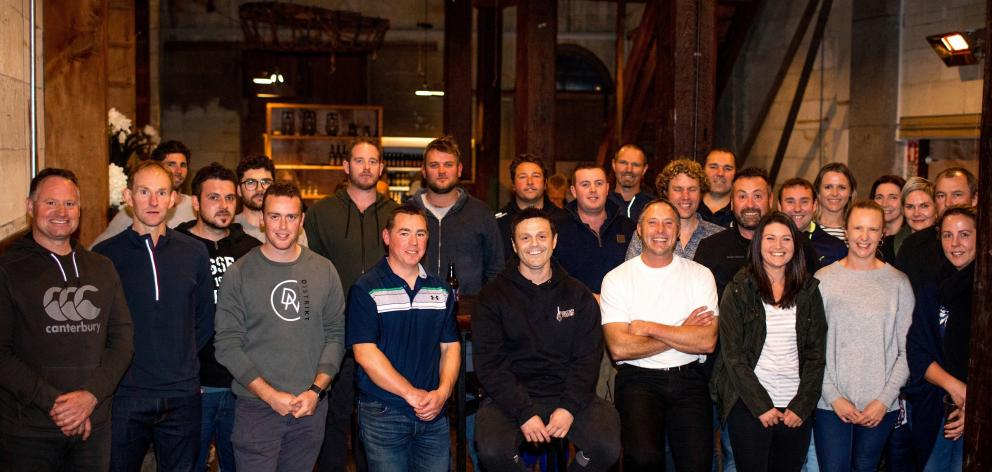 Portside Punch charity boxers gather at the Loan and Merc in Oamaru. Photo: Rachel Wybrown
