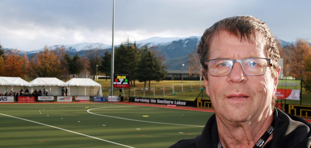 Central Otago Sports Turf Trust chairman Michael Paardekooper relaxes at the Pioneer Energy Turf...