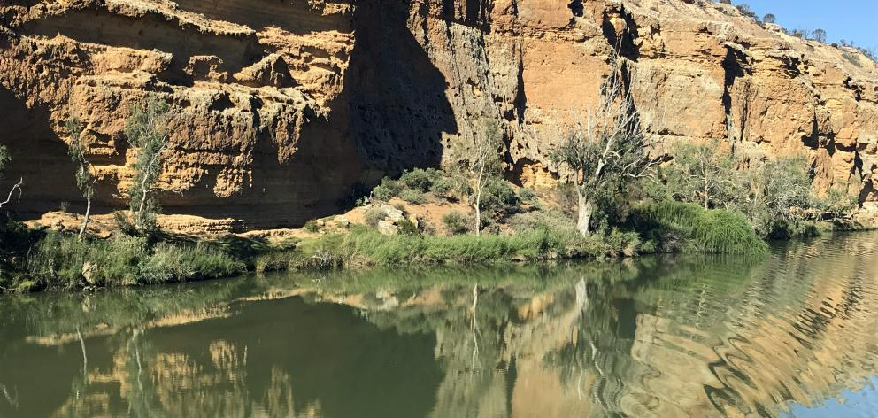 Millions of years old, the Murray's sandstone cliffs are chock-full of fossils.