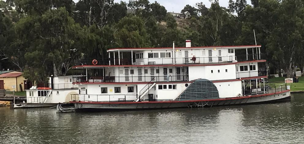 Built in 1897, the restored paddle steamer Marion forms part of Mannum museum's collection.