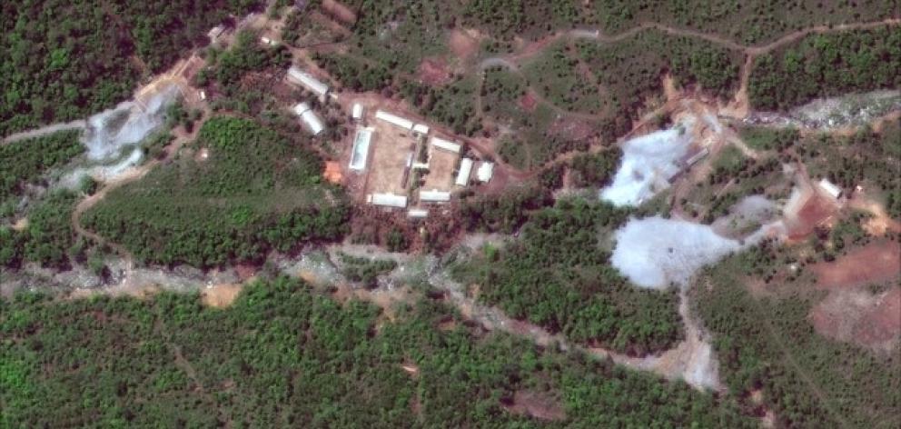 Satellite image of North Korea's Punggye-ri nuclear test facility. Photo: Reuters