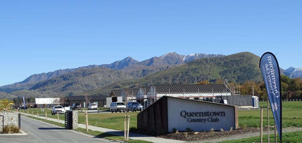 The Queenstown Country Club yesterday, one of eight retirement villages in development or...
