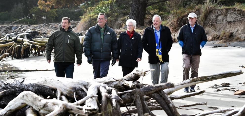 Otago Peninsula Community Board chairman Paul Pope (left), Dunedin City Council parks and...