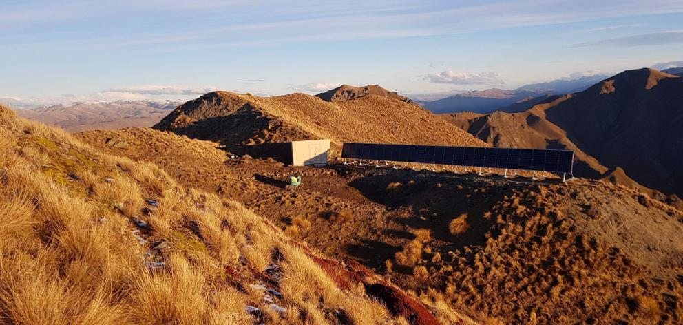 The upgraded Roys Peak communications facility is powered by solar energy. Photo: Supplied