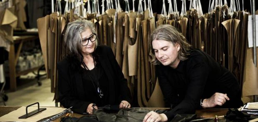Zambesi fashion designers Liz Findlay, also co-owner, and Dane Johnston. Photo: NZ Herald
