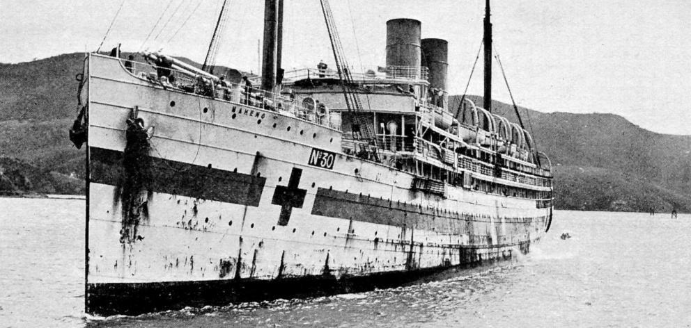 The hospital ship SS Maheno. Photo: Otago Witness Collection