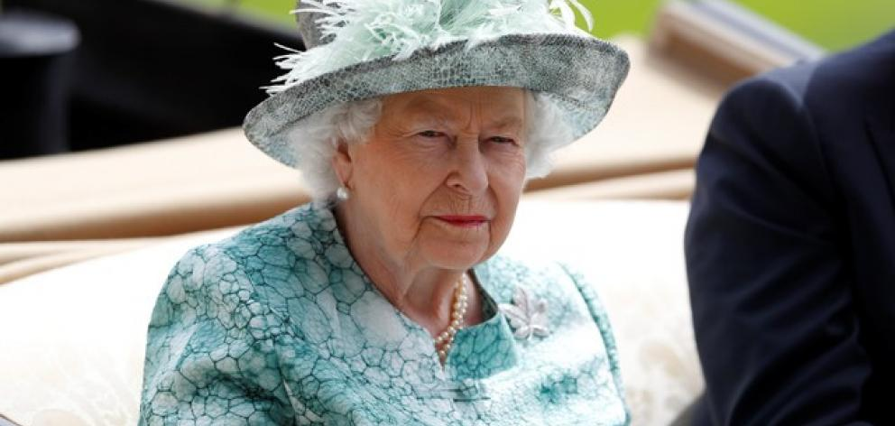Queen Elizabeth during the royal procession before the start of the racing at Ascot. Photo: Reuters