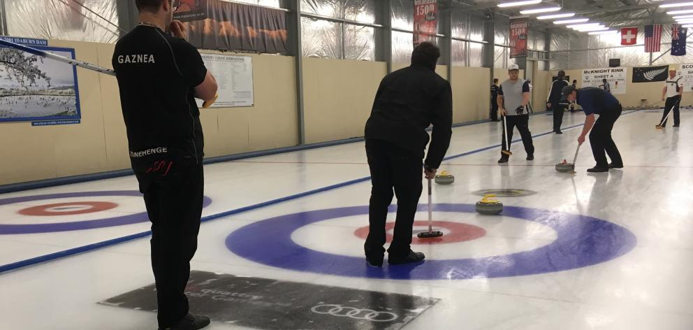 Competitors were on  the ice for the New Zealand National Curling Championships in Naseby at the...