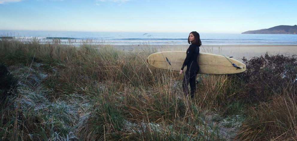 A thick frost on Warrington Beach was not going to stop Greta Mutch from heading out to catch a...