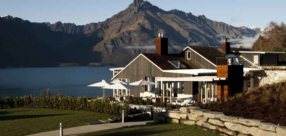 With stunning views of the big three – the Remarkables and Cecil and Walker Peaks – Matakauri Lodge's Owner's Cottage is an intimate hideaway. Photo: Supplied