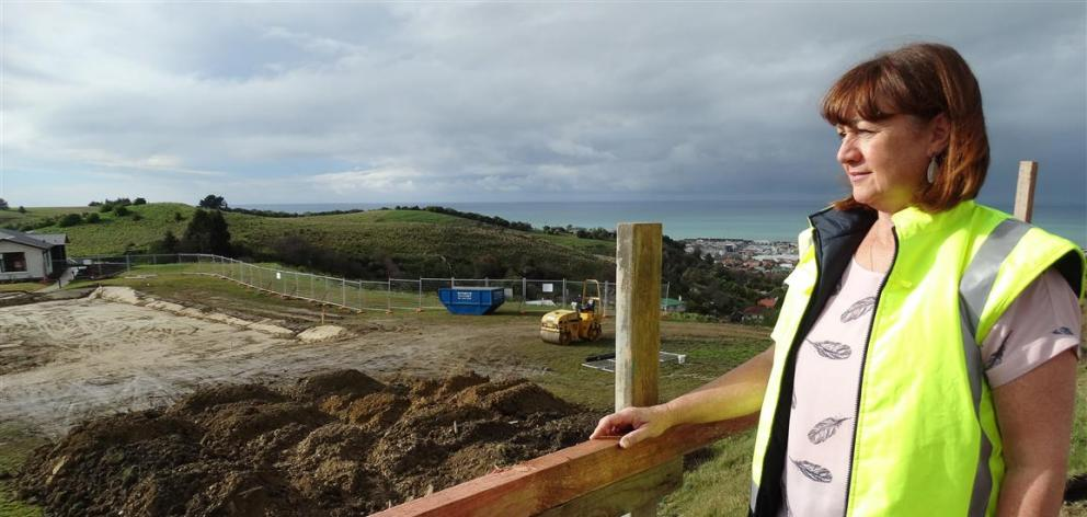 Observatory Village Lifecare general manager Rosie Dwyer looks at the site where the retirement...