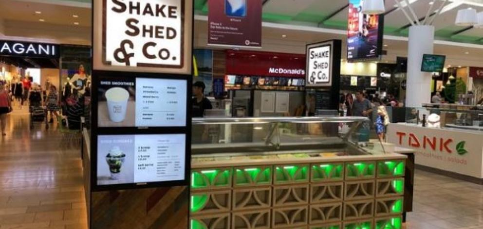 A Shake Shed and Co kiosk. Photo: Supplied via NZ Herald