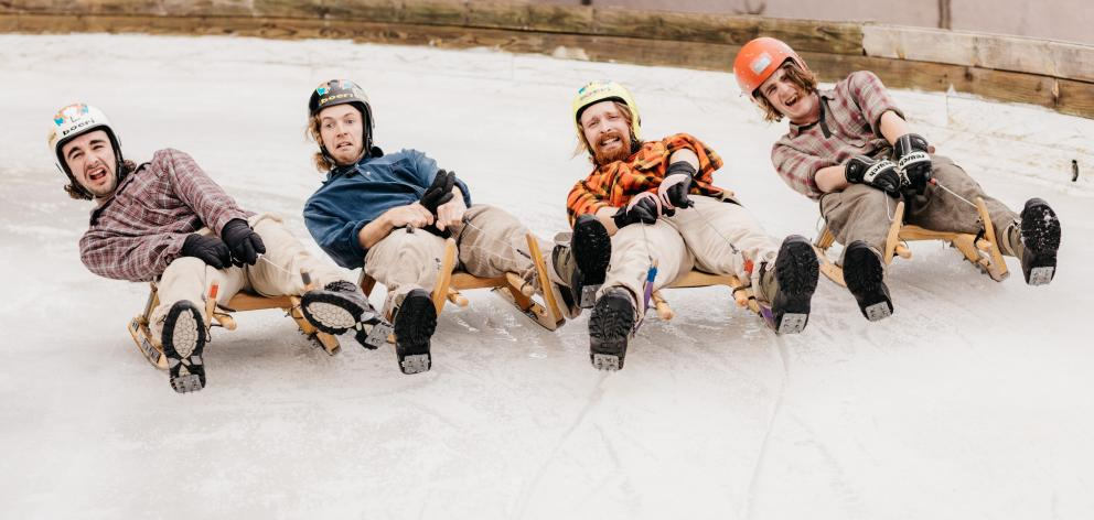 Dunedin folk indie band Soaked Oats. Photo; Supplied