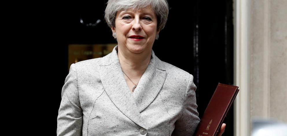 After losing her parliamentary majority in a botched gamble on a snap election, May is so weakened that her Brexit strategy has become the subject of public debate inside her own party. Photo: Reuters
