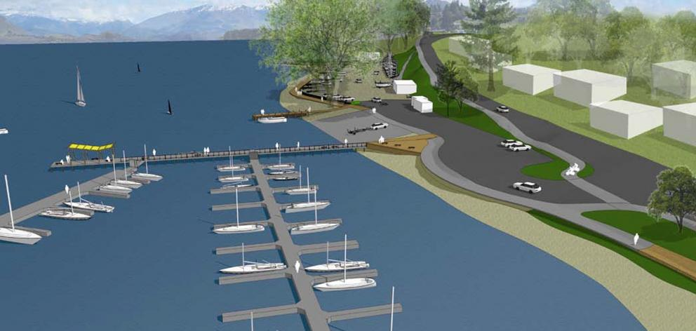 Work near Wanaka's marina would include a car park extension, new boardwalk and more boat...