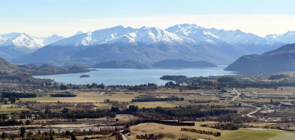 Housing values across Central Otago (pictured, Wanaka this week), Dunedin and Queenstown are double that of the national annual average. Photo: Stephen Jaquiery