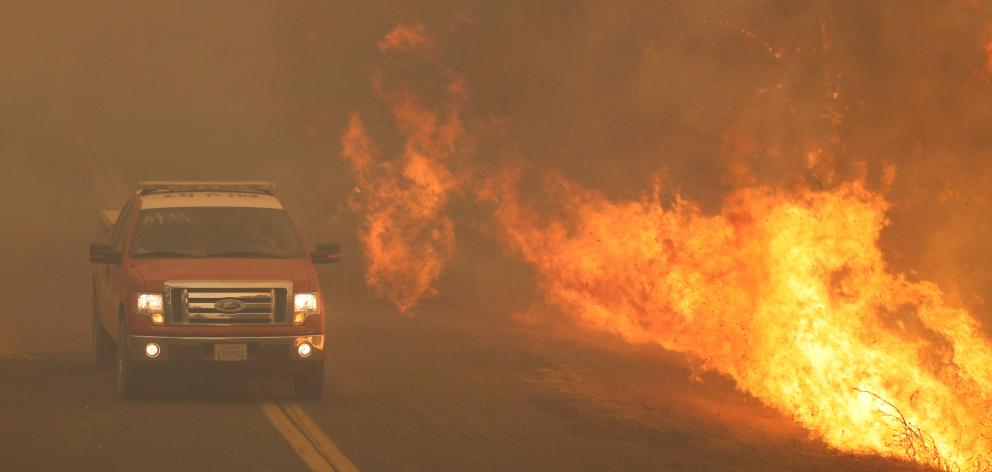 Several major fires burning in California have displaced tens of thousands of people. Photo: Reuters