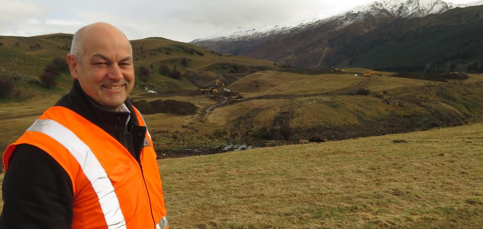 Millbrook property & development director Ben O'Malley is delighted work's underway on the former Dalgleish Farm. Photo: Philip Chandler