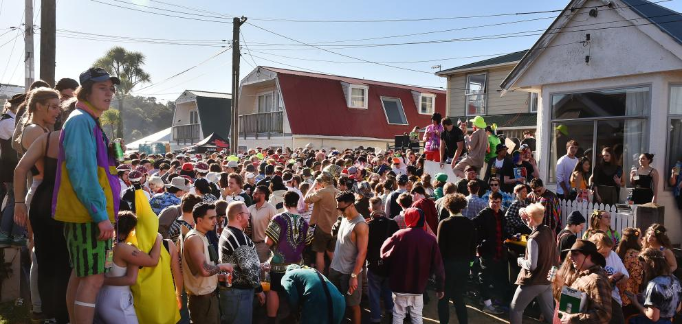 About 2000 people attended the Agnew St party on Saturday. Photos: Gregor Richardson