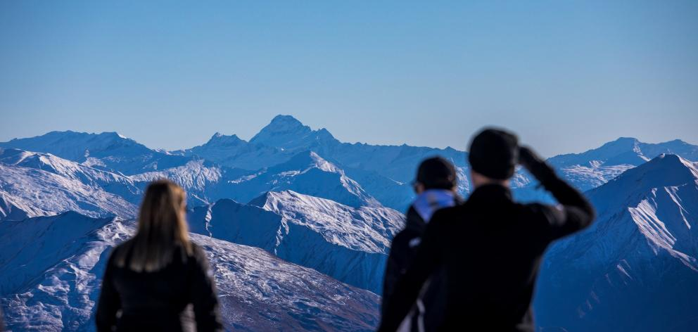 Stunning views include Mt Aspiring as a backdrop.