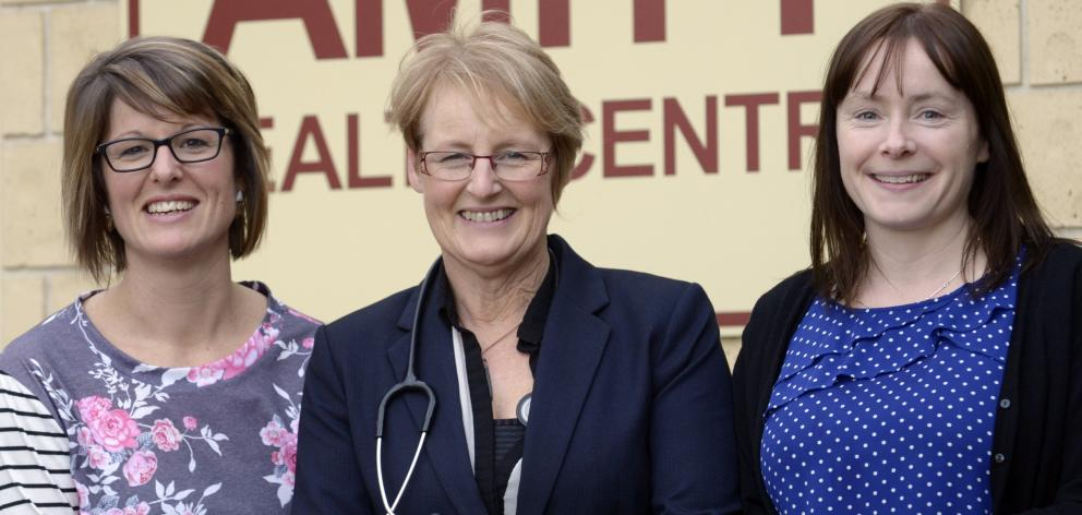 The team behind Amity Medical Centre, Dunedin's first Health Care Home, (from left) practice...
