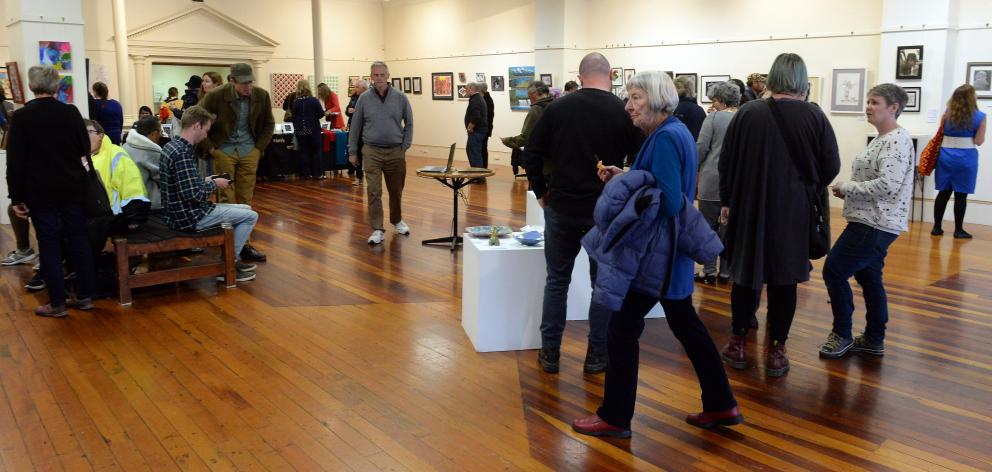 The opening of Artsenta's annual exhibition at the Dunedin Community Gallery last year. Photo: ODT files
