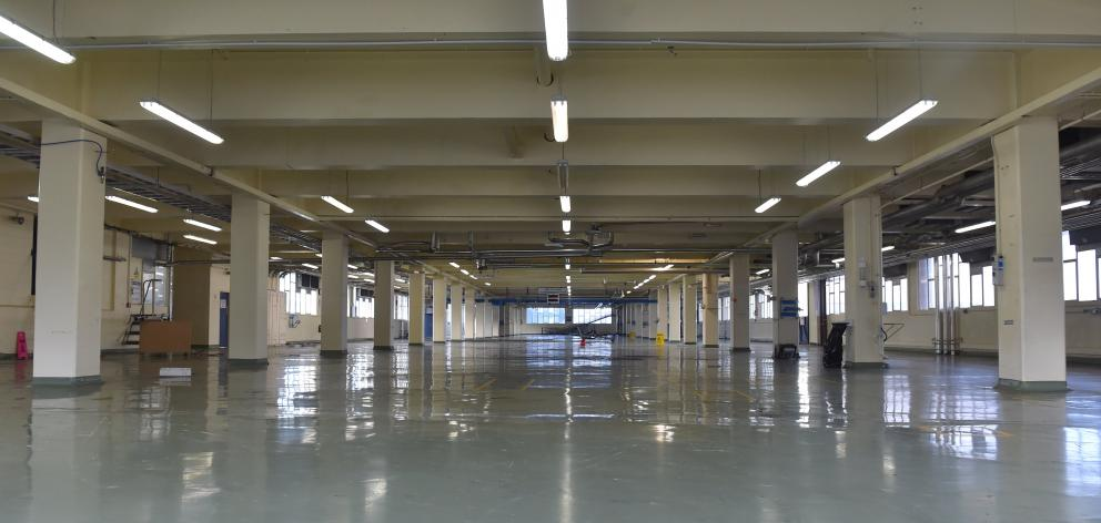A vast, deserted factory space indicates how large the operation once was. Peter McIntosh