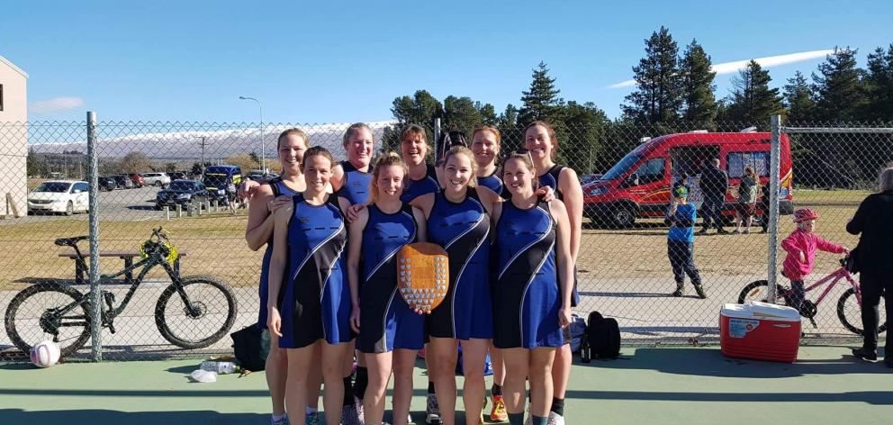The victorious Molyneux team with the Vincent Shield after winning Saturday's final. Photo:...