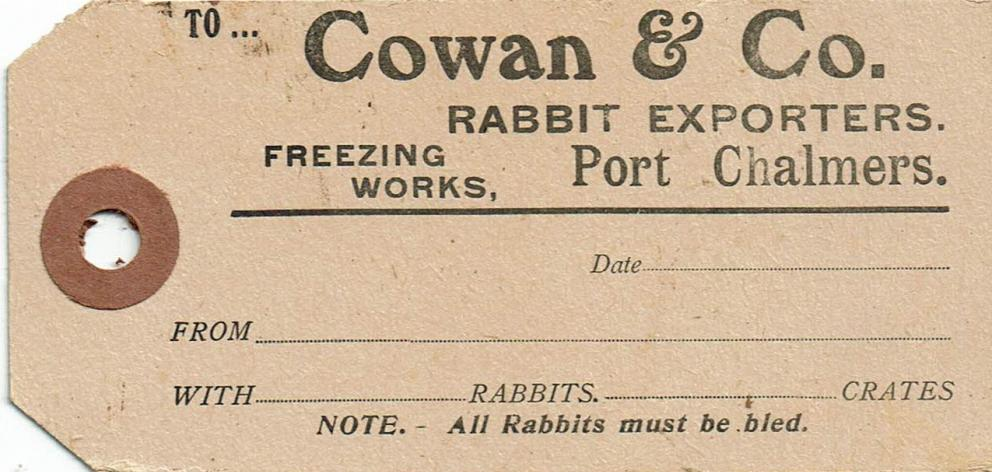 Ruth Porteous of Warrington came across this Cowan& Co label while researching her family history...