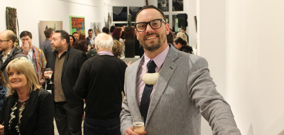 Southland artist Greg McDonald celebrates the opening of his gallery, Chiaroni Gallery, in...