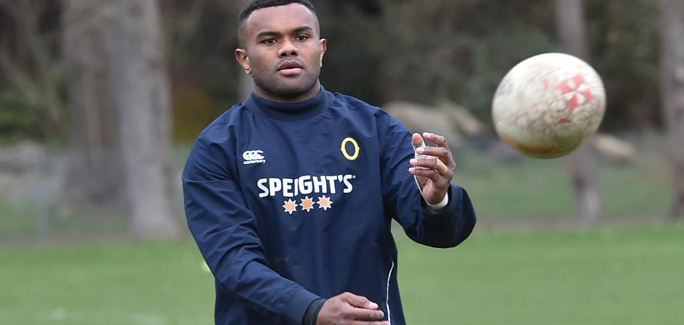 Otago loose forward Naulia Dawai at training at Logan Park earlier this week. Photo: Gregor...