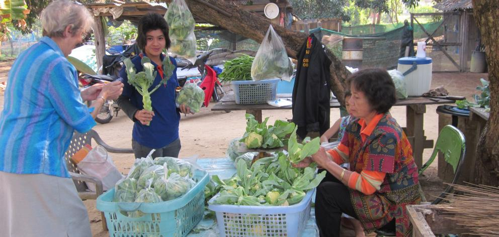 Produce from the thriving market gardens.