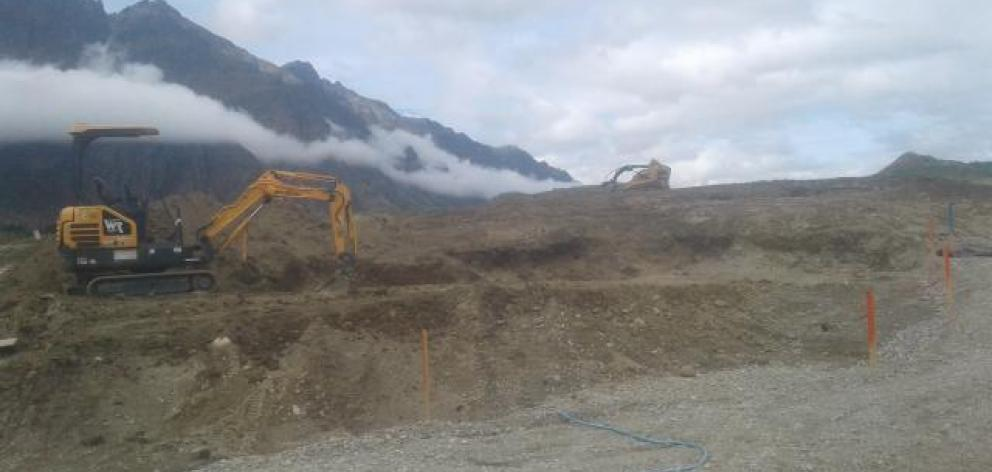 A digger was stolen from a construction site in Queenstown recently. Photo: NZ Police