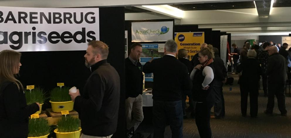 Mid Canterbury's deer industry technology expo gave deer farmers the chance to see, and test, some of the equipment and systems available on the market to help them farm smarter. Photo: Toni Williams