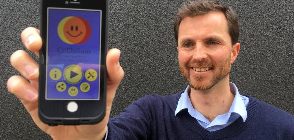 Technaturally Games director John Gillanders, of Dunedin, has launched Colibrium, a game he developed for smartphones and tablets. Photo: Shawn McAvinue