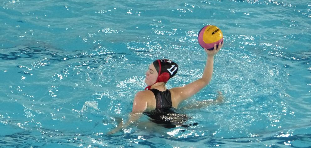Columba College pupil Sophie Gaudin played in the Canterbury under-18 water polo team at the Pan Pacific Championships last month and will compete in the national competition in October. Photo: Supplied