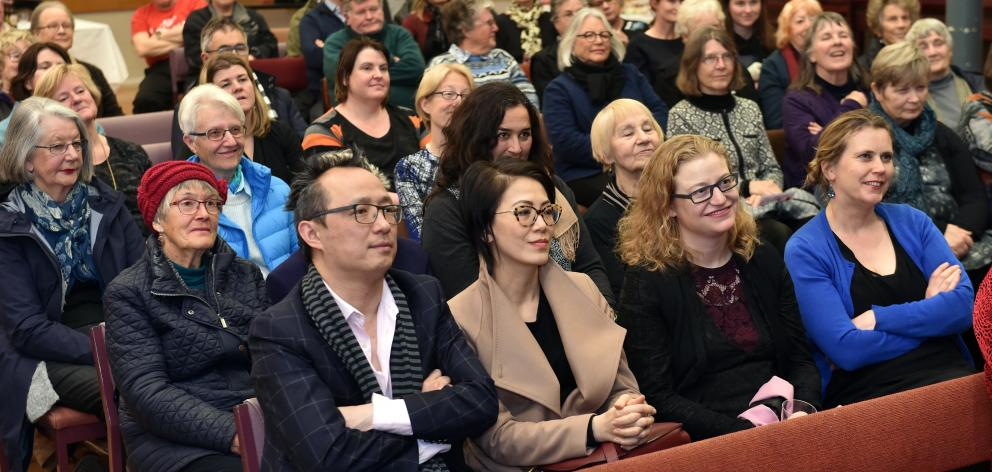 A crowd of nearly 100 attended the lecture. PHOTO: PETER MCINTOSH