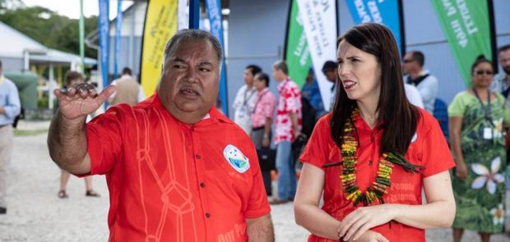 Nauru President Baron Waqa and Jacinda Ardern spoke about the issue of refugees on the island. Photo: NZ Herald