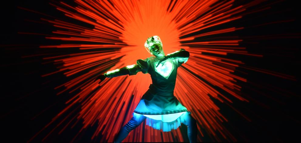 Dancer Katalin Lengyel plays Robot Girl in Ann-Droid at the Mayfair Theatre as part of Arts...