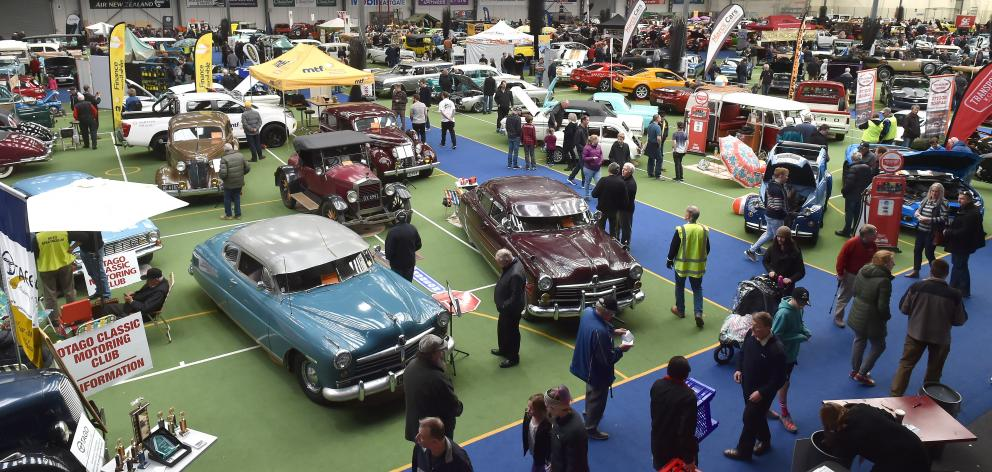 Petrol-heads soak up the sights at Autospectacular at the Edgar Centre on Saturday.