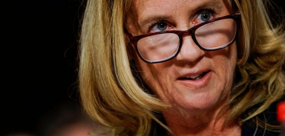 Christine Blasey Ford at a Senate Judiciary Committee. Photo: Reuters