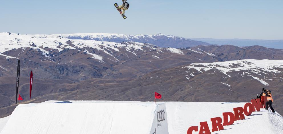 It was a golden 19th birthday for American Chris Corning, who won the snowboard world cup big air...