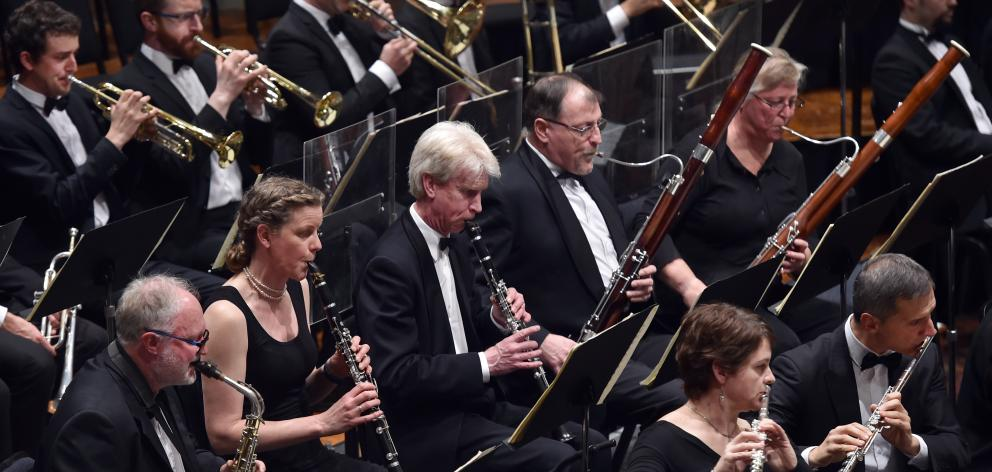 Dunedin Symphony Orchestra in the Dunedin Town Hall on Saturday night. Photo: Peter McIntosh