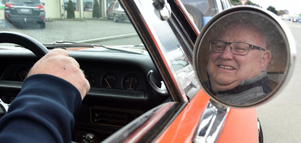 Dunedin businessman Brian Olsen and his wife Karen take  their Australian-built 1971 Chrysler...