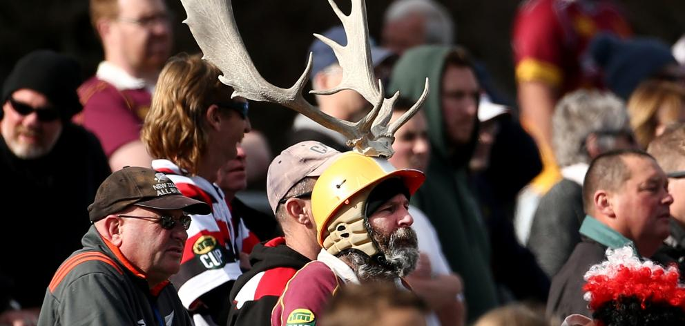 Stags supporters watch the match. Photo: Getty Images