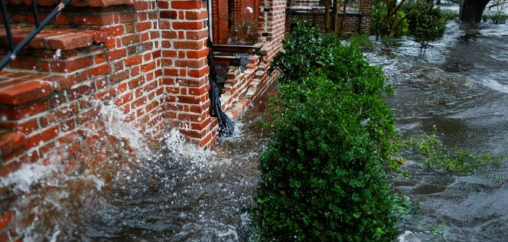 Water from the Neuse river floods houses during the passing of Hurricane Florence. Photo: Reuters