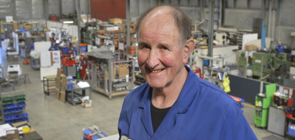 Long term Scott Technology employee Bob Hyslop pictured in the company's workshop this week....