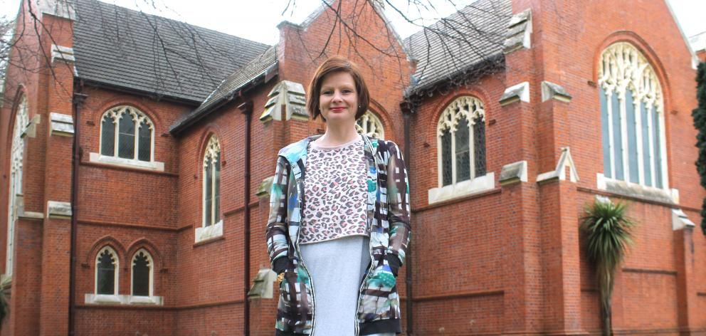 SIT programme manager for creative industries Kathryn McCully in front of St John's church in...