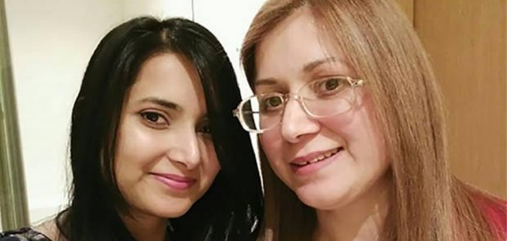 Niki Soni (left) died suddenly earlier this year and her death was being investigated by the Coroner. Now her mother Monica Soni (right) had also died suddenly. Photo: Supplied via NZ Herald