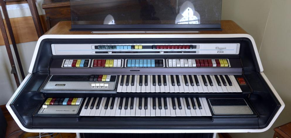 A 1976 Thomas electronic organ is part of the collection of the New Zealand Organ Museum Trust.